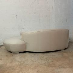 Vladimir Kagan Vladimir Kagan Oyster Linen Serpentine Cloud Chaise Lounge Sofa USA 1970s - 1597512
