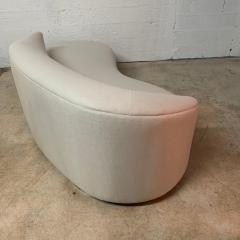 Vladimir Kagan Vladimir Kagan Oyster Linen Serpentine Cloud Chaise Lounge Sofa USA 1970s - 1597516