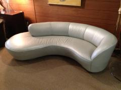 Vladimir Kagan Vladimir Kagan Serpentine Sofa Ottoman Upholstered In Edelman Leather - 75854