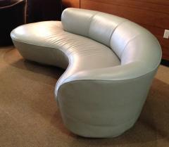 Vladimir Kagan Vladimir Kagan Serpentine Sofa Ottoman Upholstered In Edelman Leather - 75856