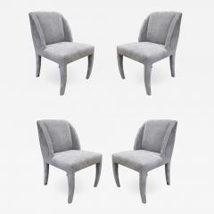 Vladimir Kagan Vladimir Kagan Set of 4 Sculptural Dining Game Chairs 1970s Signed  - 1680684