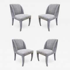 Vladimir Kagan Vladimir Kagan Set of 4 Sculptural Dining Game Chairs 1970s Signed  - 2015748