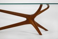 Vladimir Kagan Vladimir Kagan Tri Symmetric Coffee Table in Mahogany with Glass Top - 1816843