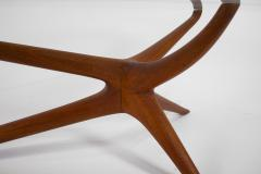 Vladimir Kagan Vladimir Kagan Tri Symmetric Coffee Table in Mahogany with Glass Top - 1816845