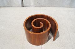 Vladimir Kagan Walnut Glass Snail Coffee Table By Vladimir Kagan   113930