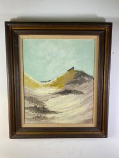 W E Messner BOAT ON SANDY BEACH DUNES OIL PAINTING BY W E MESSNER - 1642247