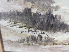 W E Messner BOAT ON SANDY BEACH DUNES OIL PAINTING BY W E MESSNER - 1642248