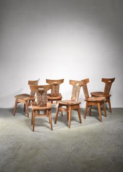 W Kuyper Set of 6 W Kuyper dining chairs early 19th Century - 1310209