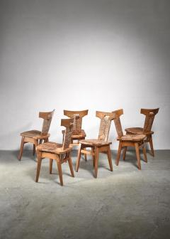 W Kuyper Set of 6 W Kuyper dining chairs early 19th Century - 1310210