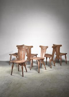 W Kuyper Set of 6 W Kuyper dining chairs early 19th Century - 1310212