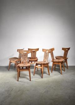 W Kuyper Set of 6 W Kuyper dining chairs early 19th Century - 1310213