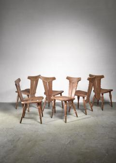 W Kuyper Set of 6 W Kuyper dining chairs early 19th Century - 1310214