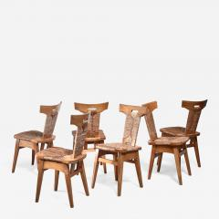 W Kuyper Set of 6 W Kuyper dining chairs early 19th Century - 1316823