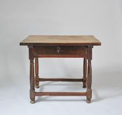 WALNUT TABLE WITH DRAWER - 1189768