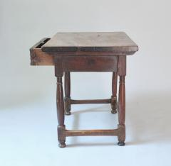 WALNUT TABLE WITH DRAWER - 1189769