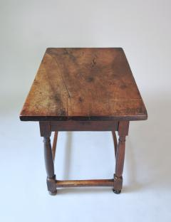 WALNUT TABLE WITH DRAWER - 1189770