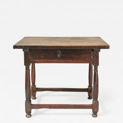 WALNUT TABLE WITH DRAWER - 1190099