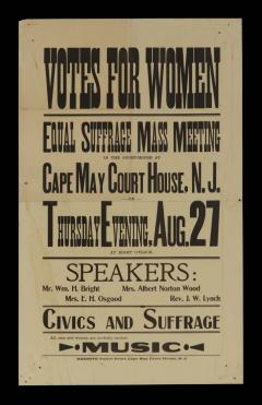 WOMENS SUFFRAGE BROADSIDE FROM A 1914 MASS MEETING - 945946