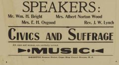 WOMENS SUFFRAGE BROADSIDE FROM A 1914 MASS MEETING - 945947