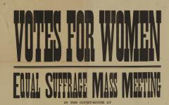 WOMENS SUFFRAGE BROADSIDE FROM A 1914 MASS MEETING - 945949