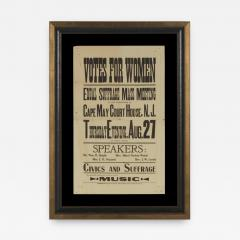 WOMENS SUFFRAGE BROADSIDE FROM A 1914 MASS MEETING - 946158