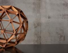 WOOD GEODESIC SCULPTURE - 1018639