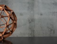 WOOD GEODESIC SCULPTURE - 1018641