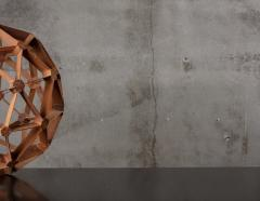 WOOD GEODESIC SCULPTURE - 1018642