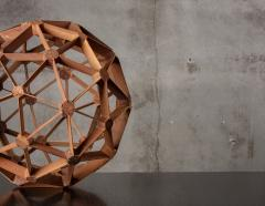 WOOD GEODESIC SCULPTURE - 1018643