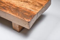 Wabi Sabi Rustic modern oak bench coffee table 1960s - 2067221