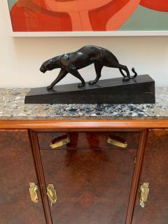 Walking Panther Sculpture Patinated Cast Bronze France Mid 20th Century - 1730208