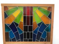 Wall Decorative Panel Large Stained Glass 1950 - 1648293