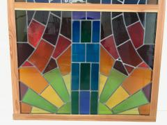 Wall Decorative Panel Large Stained Glass 1950 - 1648294