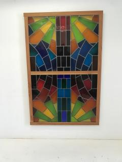 Wall Decorative Panel Large Stained Glass 1950 - 1648295