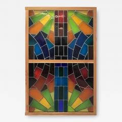 Wall Decorative Panel Large Stained Glass 1950 - 1650080