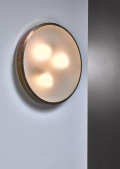Wall lamp or Flush mount lamp with brass frame - 1584443