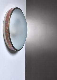 Wall lamp or Flush mount lamp with brass frame - 1584445