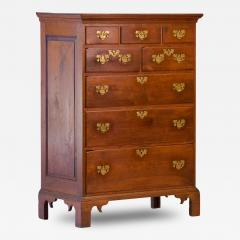 Walnut Chippendale Semi High Chest of Drawers - 92961