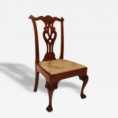 Walnut Chippendale Side Chair - 83196