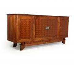 Walnut Parquetry Sideboard by Jules Leleu c1950 - 2106630