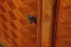 Walnut Parquetry Sideboard by Jules Leleu c1950 - 2106631