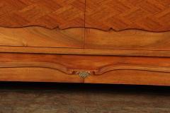 Walnut Parquetry Sideboard by Jules Leleu c1950 - 2106635