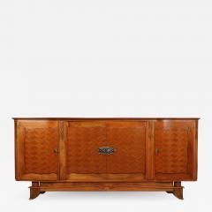 Walnut Parquetry Sideboard by Jules Leleu c1950 - 2109187