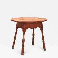 Walnut Queen Anne Oval Top Tavern Table - 1042151