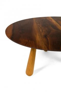 Walnut and Oak Round Coffee Table by Oluf Lund Denmark 2018 - 876817