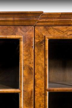 Walnut and oyster veneered breakfront 4 door bookcase - 825295