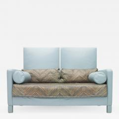 Walter Knoll Rare Light Blue Two Leather Sofa Negresco by Walter Knoll 1989 - 1304174