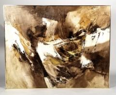 Walter McCown 1960s Abstract Oil and Encaustic Painting on Board by TX Modernist Walter McCown - 1085214