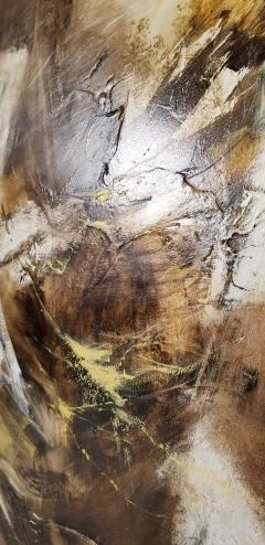 Walter McCown 1960s Abstract Oil and Encaustic Painting on Board by TX Modernist Walter McCown - 1085216