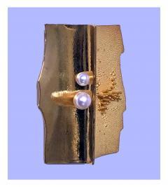 Walter Schluep Walter Schluep 18K Abstract Brooch Pin C 1970 - 480536